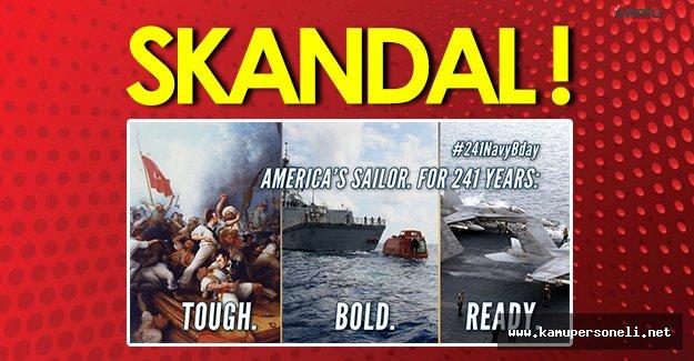 Skandal: ABD, Donanmasının Yıl Dönümü Etkinliklerinde Öldürülen Türk Askerlerinin Olduğu Tabloyu Kullandı!
