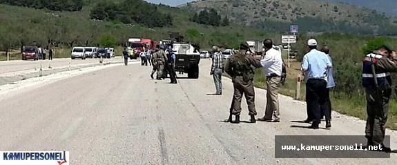 Soma'da Askeri Araç Geçişinde Patlama