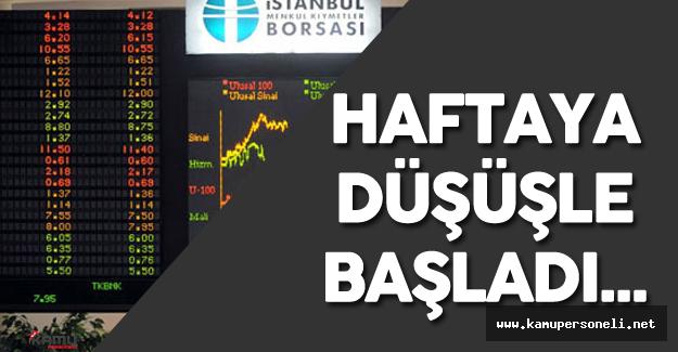 Son Dakika: 18 Temmuz 2016 Borsa Güne Düşüşle Başladı