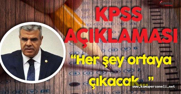 """Son Dakika: Başbakan Yardımcısı Veysi Kaynak'tan KPSS Açıklaması """" Her Şey Ortaya Çıkacak"""""""