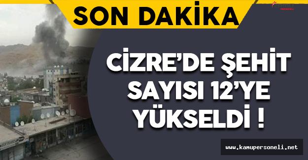 Son Dakika: Cizre'deki Şehit Sayısı 12 Oldu !