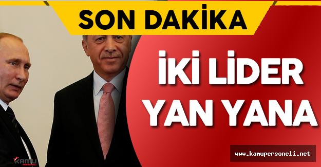 Son Dakika: Cumhurbaşkanı Erdoğan ve Rusya Devlet Başkanı Putin Aylar Sonra Yanyana