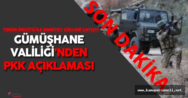 Son Dakika: Gümüşhane'de Terör Örgütü pkk Alarmı