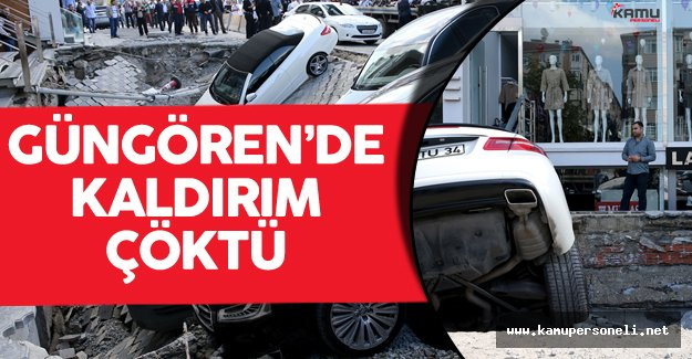 Son Dakika : İstanbul Güngören'de Kaldırım Çöktü