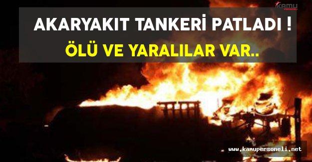 Son Dakika: İstanbul/Büyükçekmece'de Akaryakıt Tankeri Patladı !