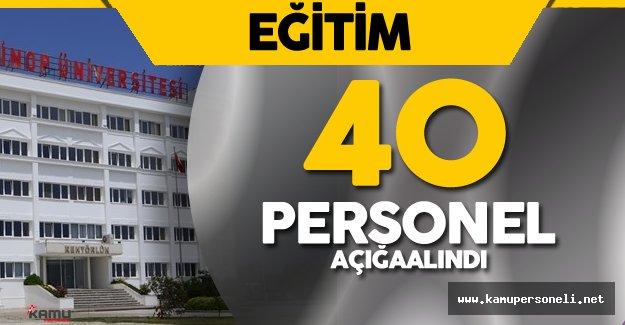 Son Dakika: Sinop Üniversitesi'nde 40 Personel Açığa Alındı