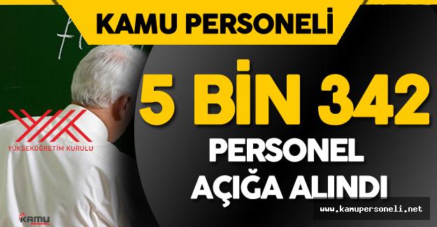 """Son Dakika: YÖK Açıkladı """" 5 Bin 342 Personel Açığa Alındı"""""""
