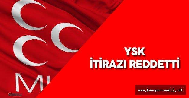 Son Dakika : YSK'dan MHP Kurultayına İlişkin Karar Geldi