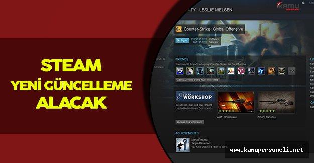 Steam Büyük Çaplı Bir Güncellemeyi Sunmak Üzere