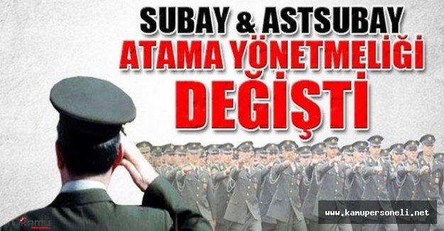 Subay ve Astsubay Atama Yönetmeliğinde Değişiklik Yapılmasına Dair Yönetmelik