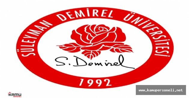 Süleyman Demirel Üniversitesi Akademik Personel Alımı Yapacak