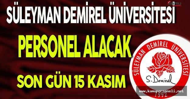 Süleyman Demirel Üniversitesi Personel Alacak
