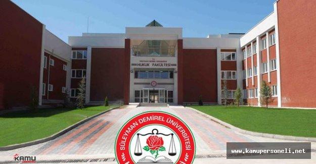 Süleyman Demirel Üniversitesi Sözleşmeli Personel Alımı Başvuruları İçin Son Gün
