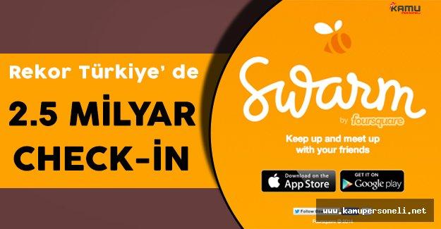 Swarm' da Check-in Rekoru Türkiye' nin Elinde