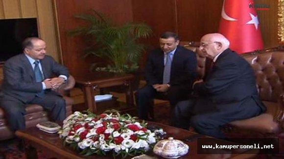 TBMM Başkanı Kahraman ve IKBY Başkanı Barzani Görüşmesi