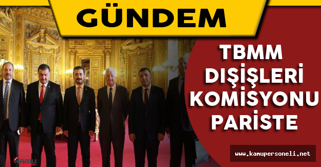 TBMM Dışişleri Komisyonu Heyeti Paris Büyükelçiliği'nde Basın Mensuplarıyla Buluştu