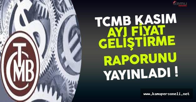 TCMB Kasım Ayı Fiyat Geliştirme Raporunu Yayınladı