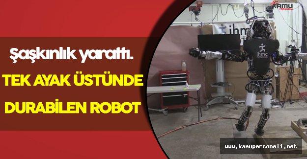 Tek Ayak Üstünde Durabilen Robot Hayranlık Uyandırdı