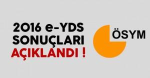 2016 e-YDS Sonuçları Açıklandı