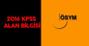2016 Kamu Personeli Seçme Sınavı (2016 KPSS Alan Bilgisi ) Sınavları Başladı