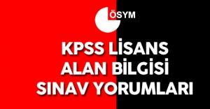 2016 KPSS Lisans Alan Bilgisi Öğleden Sonra Oturumu Soruları, Cevapları , Yorumları ( Sınav Zor Muydu? )