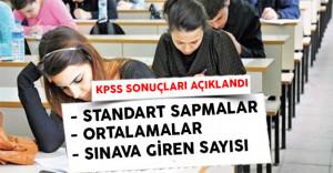2016 KPSS Ortaöğretim Sonuçlarına Ait Sayısal Bilgiler ! (Test Ortalamaları, Giren Aday Sayısı, Standart Sapmalar)