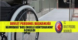 DPB Kamudaki Açık Engelli Kontenjanını Açıkladı