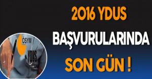 2016 YDUS Başvurularında Son Gün !