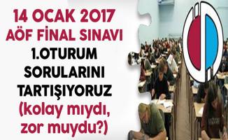 14 Ocak 2017 AÖF Final Sınavı Soruları,Cevapları ve Yorumları (kolay mıydı,zor muydu?)