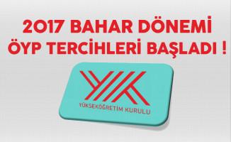 2017 Bahar Dönemi ÖYP Tercihleri Başladı !