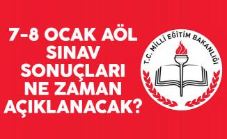 7-8 Ocak AÖL sınav sonuçları ne zaman açıklanacak? MEB açıklaması geldi