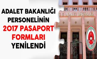 Adalet Bakanlığı Personellerinin 2017 Pasaport Formları Yenilendi