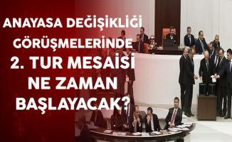 Anayasa Değişikliği Görüşmelerinde 2. Tur Mesaisi Ne Zaman Başlayacak?