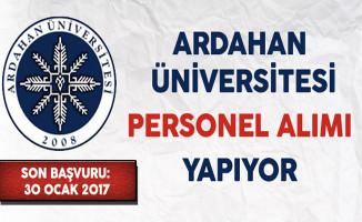 Ardahan Üniversitesi Personel Alıyor