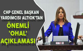 CHP Genel Başkan Yardımcısı Altınok'tan Önemli OHAL Açıklaması