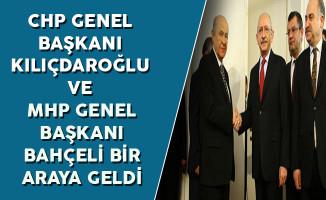 CHP Genel Başkanı Kemal Kılıçdaroğlu ve MHP Genel Başkanı Devlet Bahçeli Meclis'te Bir Araya Geldi