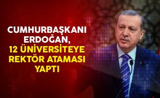 Cumhurbaşkanı Erdoğan, 12 Üniversiteye Rektör Ataması Yaptı