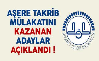 Diyanet İşleri Başkanlığı (DİB) Aşere Takrib Mülakatını Kazanan Adaylar Açıklandı !