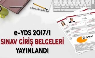e-YDS 2017/1 Sınav Giriş Belgeleri Yayınlandı !