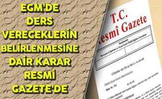 Emniyet Genel Müdürlüğü'ne Bağlı Kurumlarda Ders Vereceklere ilişkin Karar Yayınlandı
