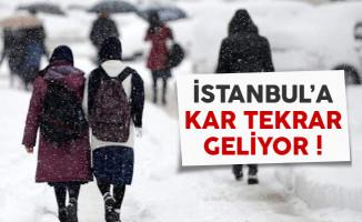 İstanbul'a kar tekrar geliyor