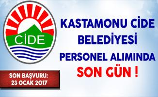 Kastamonu Cide Belediyesi Sözleşmeli Memur Personel Alımında Son Gün !