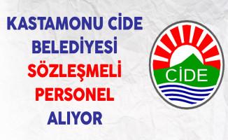 Kastamonu Cide Belediyesi Sözleşmeli Personel Alımı Yapıyor