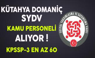 Kütahya Domaniç SYDV Kamu Personeli Alıyor