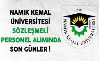 Namık Kemal Üniversitesi Sözleşmeli Personel Alımında Son Günler