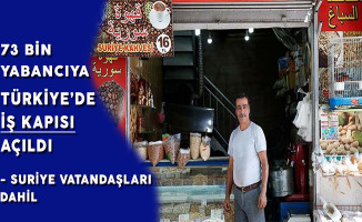 Suriye Vatandaşları Dahil 73 Bin Yabancıya Türkiye'de İş Kapısı Açıldı