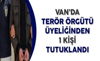 Van'da Terör Örgütü Üyeliğinden ve Uyuşturucu Madde Üretiminde 1 Kişi Tutuklandı