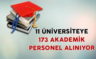 11 Üniversiteye 173 Akademik Personel Alınıyor