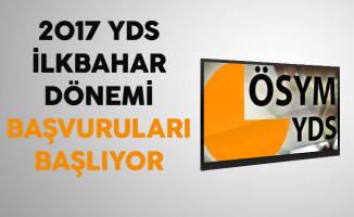 2017 YDS İlkbahar Dönemi Başvuruları Başlıyor