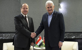 Başbakan Yıldırım IKBY Başkanı Barzani İle Terörle Mücadeleyi Görüştü